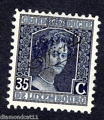 1915 Luxembourg 35c Blue OPTD OFFICIEL SG O242 MOUNTED MINT R23761