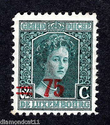 1916 Luxembourg 62.5 Green OPTD 75 SG 217 MOUNTED MINT R23627