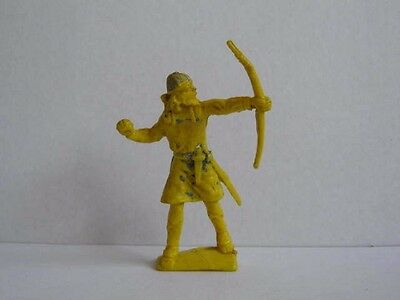 1 x CHERILEA 1960's VIKING / SAXON with BOW.  PLASTIC 60mm TOY SOLDIER  ...