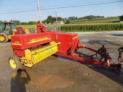 New Holland 570 Square Baler W/ Thrower, Pin Hitch, 540 Pto, Swinging Tongue