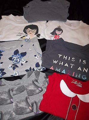 Lot of 7 Toddler girl's Tops, Long sleeve shirts-BaBY GAP CARTERS- size 3T