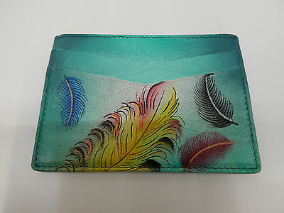 Anuschka Womens Credit Card Case Floating Feathers 1032-Fft