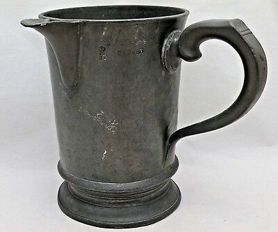 Antique Quart Pewter Spouted Tankard Fountain Public House Golden Square London