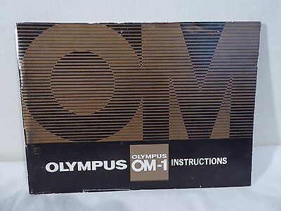 Olympus Om-1 Genuine Instruction Manual- Excellent Condition