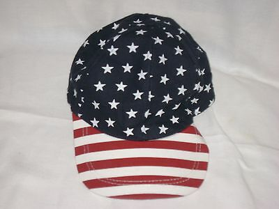 D&Y Baseball Patriotic Cap adjustable snap red white and blue NEW!