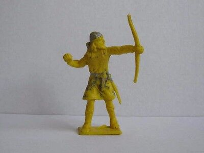 1 x CHERILEA 1960's VIKING / SAXON with BOW.  PLASTIC 60mm TOY SOLDIER  ....
