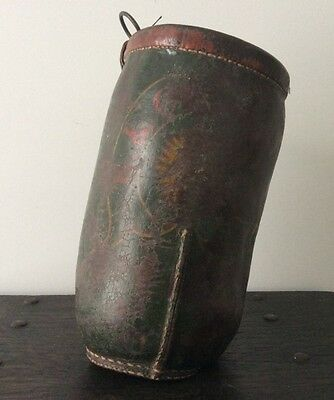 18th/19th Century US Leather Fire Bucket / Kennebunkport Maine / TLONNO