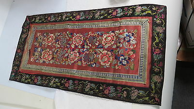 Antique Chinese textile Floral Embroidery