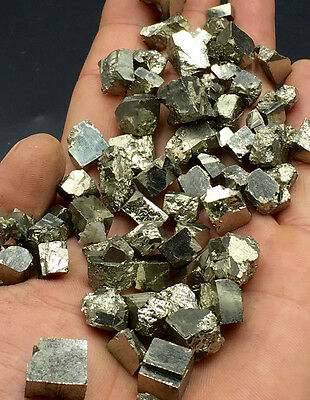 Twinkling Metallic Cubic Golden PYRITE Crystal Mineral Specimen---A lot of,good