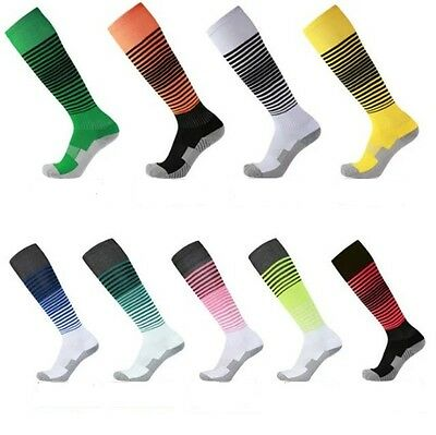 Socks Soccer Baseball Football Basketball Sport Over Knee High stripe Socks US