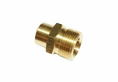 "Pressure Washer Adapter & Connector Coupler Plug 22mm Male X 1/4"" Female NPT"