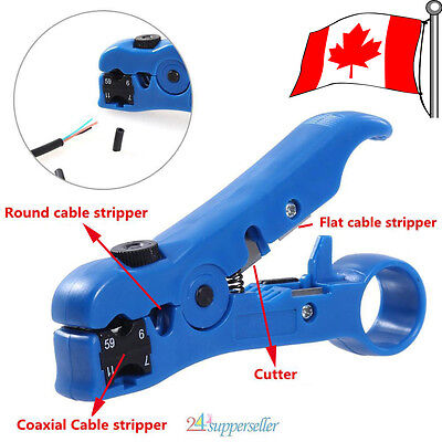 Useful Rotary Coax Coaxial Cable Wire Cutter Stripping Tool RG69/6/11/7 Stripper