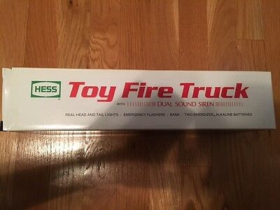 1989 HESS TOY FIRE TRUCK NEW. Never Removed From Box
