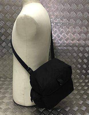 Genuine Military Issue Stealth Black Tactical Haversack / Respirator Bag PLCE