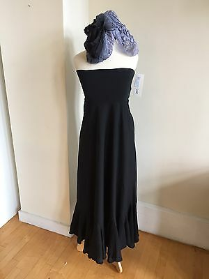 New with Tags Luna Luz Black Cotton Skirt Or Bandeau Dress Size M