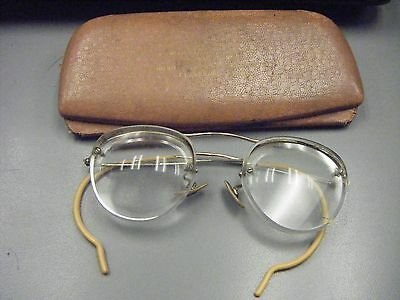 Vintage Wire Eye Glasses & Case