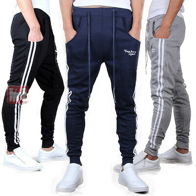 Men Sports Pants Gym Jogging Sweatpants Casual Slim Skinny Harem Jogger Trousers