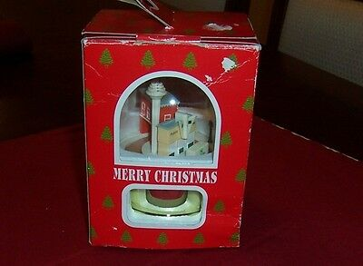Publix 2000 Nib Christmas Music Box Truck Leaving Warehouse For Grocery Store