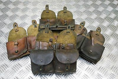Genuine Vintage Military Issued WW2 Pattern Double Leather Ammo / Utility Pouch