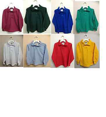 School Uniform Kids Long Sleeve Polo Shirt