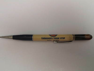 Vintage GULF Mechanical Pencil * OIL BUBBLE?  THRASHER'S TRUCK STOP * SELMER TN