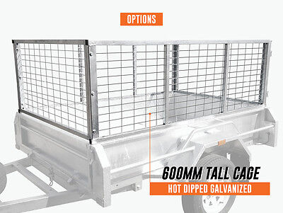 7x5x2ft 600mm Trailer Cage Hot dip Galvanised Melbourne