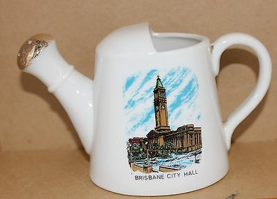 Vintage Rare Souvenir Westminster Fine China Brisbane City Hall. Watering Can
