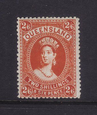 "Qld Sg 309b; 2/6 Reddish Orange Large Chalon ""Wmk Crown A"" Superb Mint. Scarce"