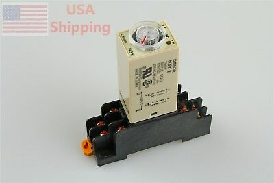 Delay Timer Time Relay DC 24V H3Y-2 H3Y with Base 0-60 Second 60s 60sec 24VDC