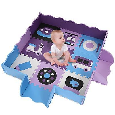 Non-Toxic, Extra Thick Foam Play Mat for Tummy Time and Crawling Soft For Baby