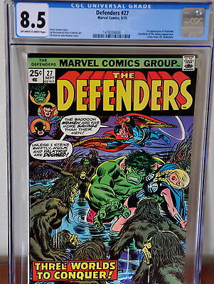 DEFENDERS #27, 1st STARHAWK!! CGC 8.5  VF+, OW/W Pages!! Gerber-s/Buscema-a