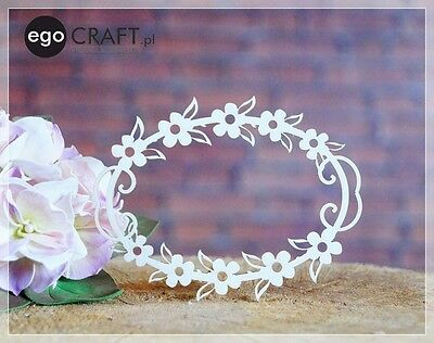 Chipboard ego Craft Lasercut Rahmen Blumen 107 x 85 mm  , Scrapbooking