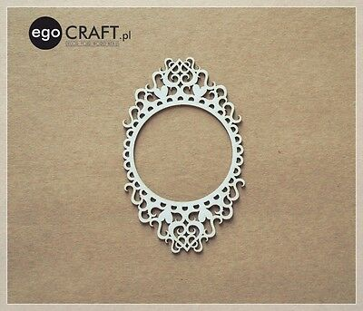 Chipboard ego Craft Lasercut Rahmen ca. 120 x 80 mm Scrapbooking