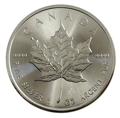 ++ Maple Leaf 2017 - 1oz Ag / Silber - 5 CAD ++