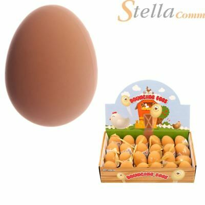 Bouncy Fake Rubber Eggs Balls Prank Joke Jet Ball Party Bag Filler Bouncing Toy