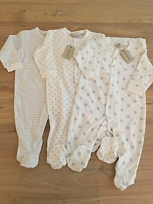 Marquise Sleepsuits- Set Of 3- Brand New With Tags. Size 00