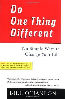Do One Thing Different: Ten Simple Ways to Change Your Life,PB,William Hudson O
