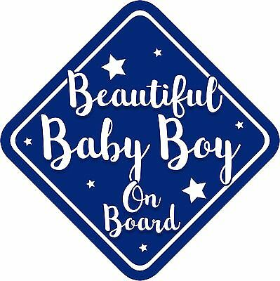 Non Personalised Baby on Board Car Sign Beautiful Baby Girl New Text 1021
