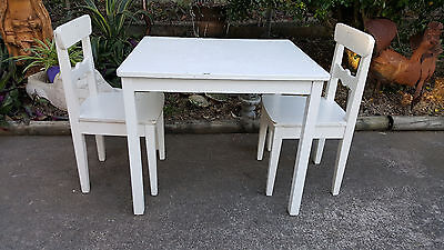 Children's 3 Piece Timber Table and Chairs