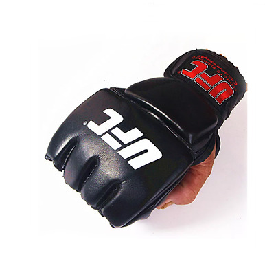 UFC Fight gloves half finger MMA Boxing Muay Thai Grappling Sparring Martial Art