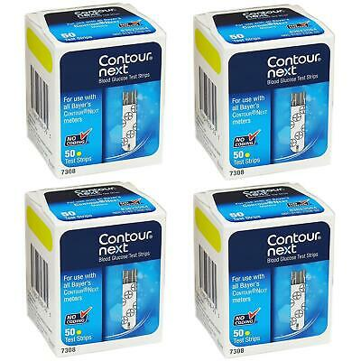 NEW Ascensia Contour-Next Diabetic Test Strips 50ct 4PK 200qty for Bayer 7308