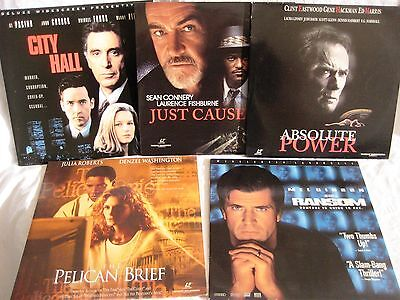LASERDISCS 5 x Thriller / Drama Titles - Covers Good Discs are Good to VG