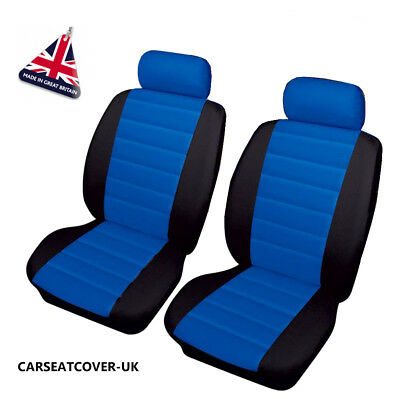 LAND ROVER RANGE ROVER SPORT SVR  PAIR of Blue/Black LEATHER LOOK  Seat Covers