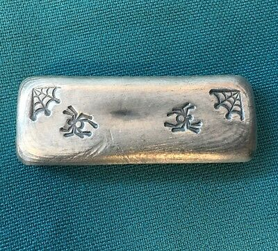 "2oz YPS ""Arachnikat 2.2"" 999+ fine silver bullion bar ""Yeager's Poured Silver"""