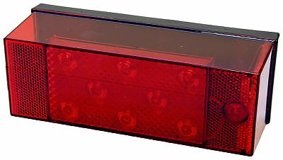 Peterson V856L Combination LED Stop/Turn/Tail Light w/License Light, Red