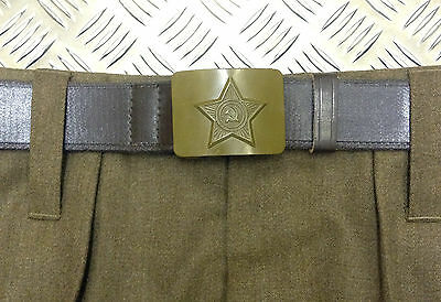 Genuine Russian/USSR/Soviet / CCCP Army Belt With Hammer And Sickle Buckle - NEW