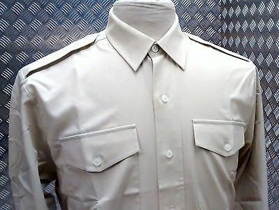 Genuine British Army All Ranks Barrack & No2 FAD Dress Shirt Fawn All Sizes NEW