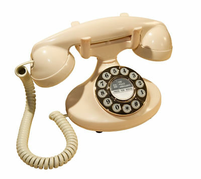 GPO Pearl Corded Phone -Cream with Electronic ring