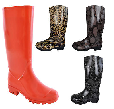 Ladies Wellington Boots Printed Rain Snow Winter Boot Wellies Size Womens UK 3-8