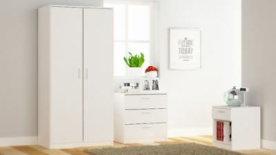FREE DELIVERY! Venice Bedroom Sets - with 2 Door Wardrobes White / Black / Oak